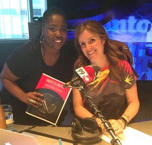 Photo of Wendy 'Motion' Brathwaite (left) and CBC host Gill Deacon
